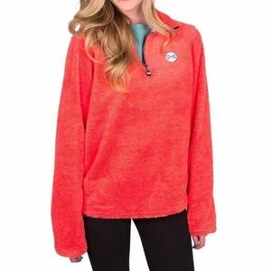 Fraternity collection coral fleece pullover Sz sm